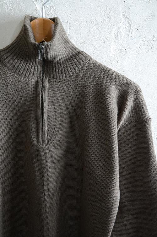 Italian army half zip knit dead stock_f0226051_13113584.jpg
