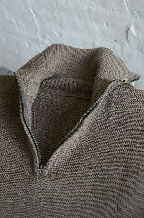 Italian army half zip knit dead stock_f0226051_1313861.jpg