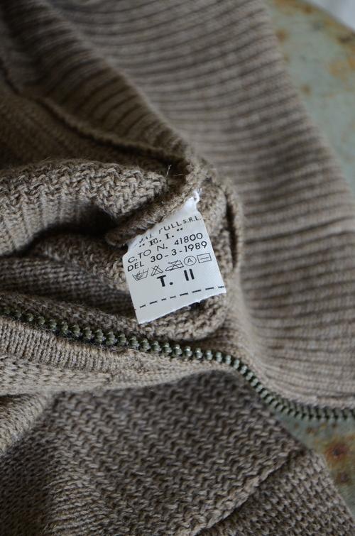 Italian army half zip knit dead stock_f0226051_13203771.jpg