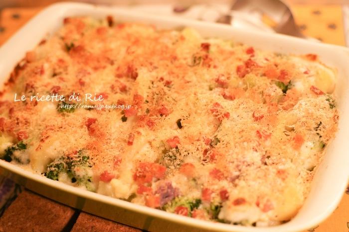 Gratin di broccoli ☆イタリアの子供達も大好き♡簡単ブロッコリーのグラタン_b0246303_02334711.jpg