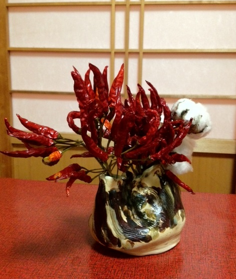 サンザシ、菊、野菊の自由花_b0248803_2239969.jpg