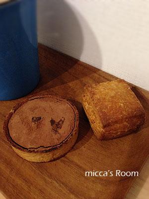 菓子屋ワタリドリさんのタルト・ショコラとスコーンにハッピーベリーさんのガトーショコラ_b0245038_22211514.jpg