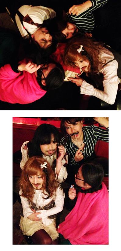 髭4人姉妹が四つ編みをしました。_d0119642_14285651.jpg