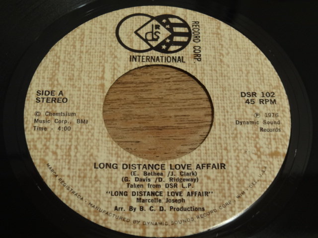 Marcelle Joseph / Long distance love affair (Dynamic Sound ...