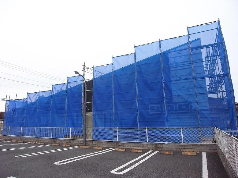 笠間の店舗 外壁工事中 2014/2/6_a0039934_17505286.jpg