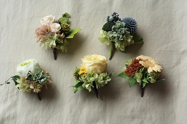 色とりどりのオシャレな花のコサージュ!デザインの参考に!