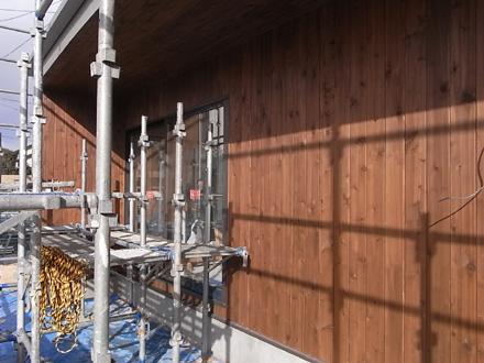 『プールサイドの家』 外壁が完了しました。_e0197748_16195551.jpg