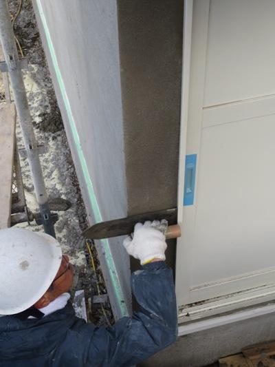 朝霞の家 外壁モルタル塗り_c0310571_11474026.jpg