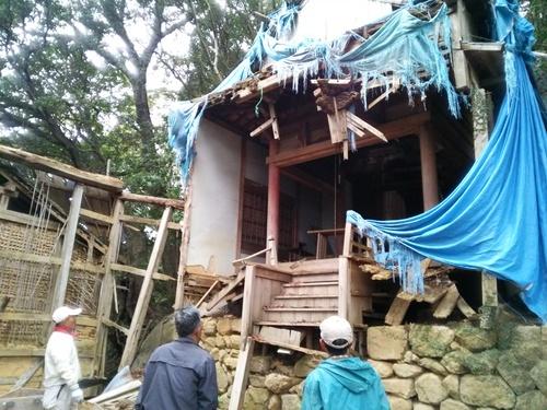 【DRT事業】観音道のお堂を解体する_c0010936_0573519.jpg