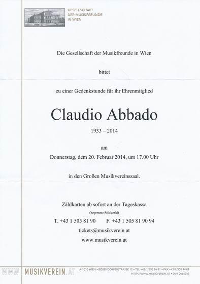 クラウディオ・アバド「追悼式」 (ウィーン楽友協会)_a0280569_4372291.jpg