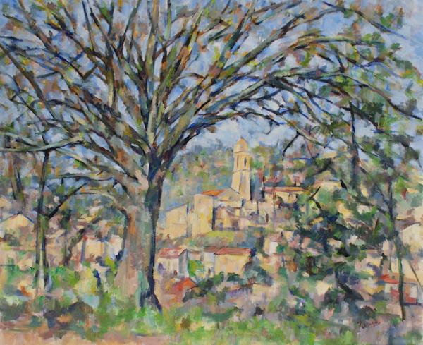 大きな木と教会(完成)_c0236929_1649181.jpg