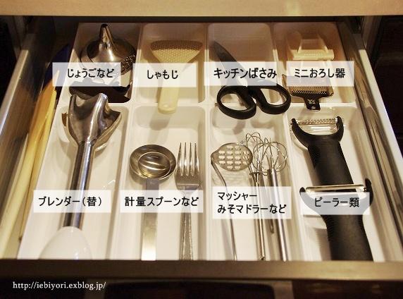 キッチンツールたちには個室を用意して、料理がしやすいように!