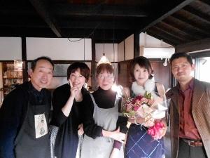 Live at 秋月「水の音 土の音」♪2014.2.1_c0139321_12053580.jpg