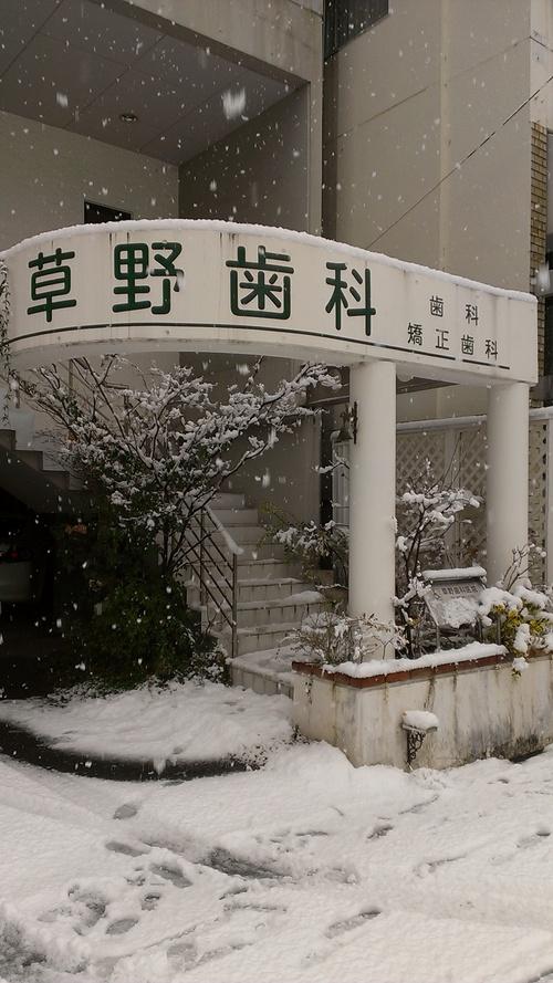 ★開院して初めての積雪★_a0263925_10271587.jpg