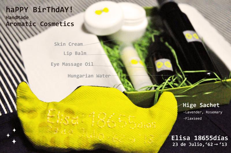 Handmade Aromatic Cosmetics: ハンドメイドコスメ詰め合せギフトセット☆ひげサシェを添えて。_d0018646_23471274.jpg