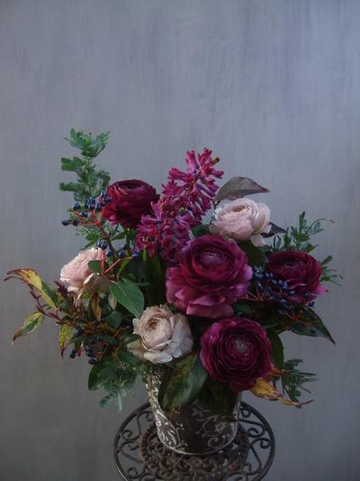 オークリーフ(紫色のラナンキュラス)_f0049672_12464618.jpg