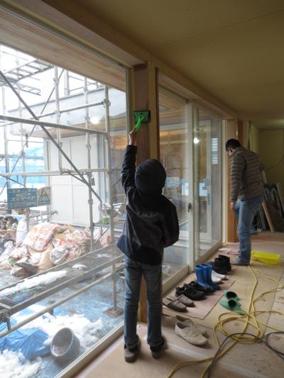 朝霞の家 建具枠自主塗装完了_c0310571_11060906.jpg