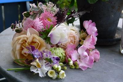 来客前の花摘み_c0198321_1244633.jpg