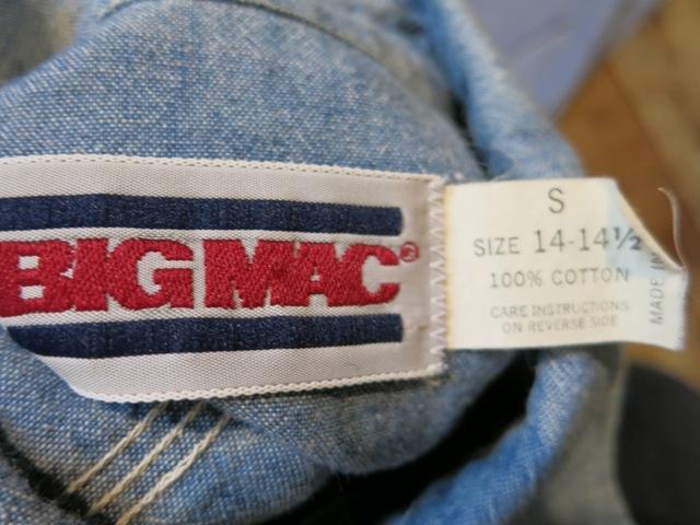 2/15(土)入荷!BIGMAC シャンブレーシャツ Sサイズ!_c0144020_14421285.jpg