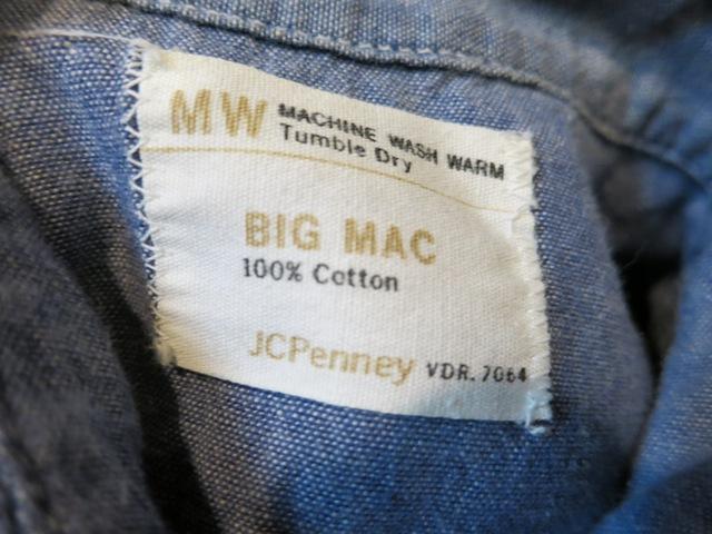 2/15(土)入荷!BIGMAC シャンブレーシャツ Sサイズ!_c0144020_14421398.jpg