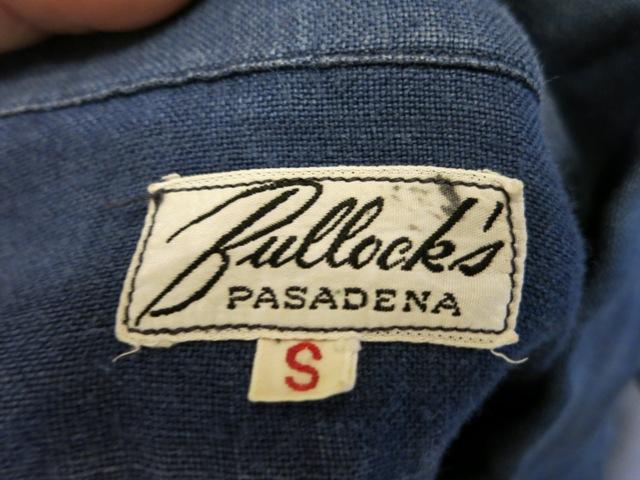 2/15(土)入荷!40-50'S BULLOCK'S PASADINA リネンシャツ!_c0144020_15053203.jpg