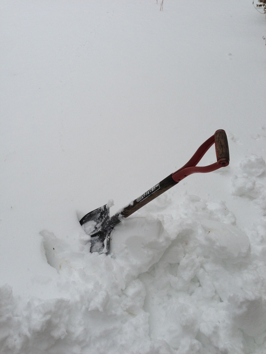 雪かき〜_f0215324_1818314.jpg