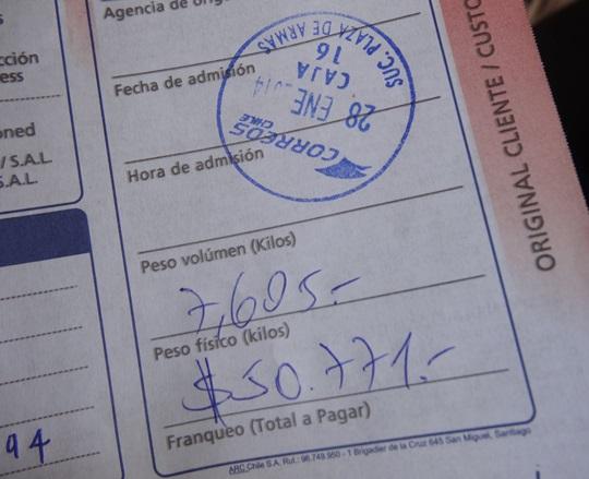サンティアゴ郵便局とセクシー美脚カフェ、Cafe con Piernas(サンティアゴ,チリ)_e0182138_3285712.jpg