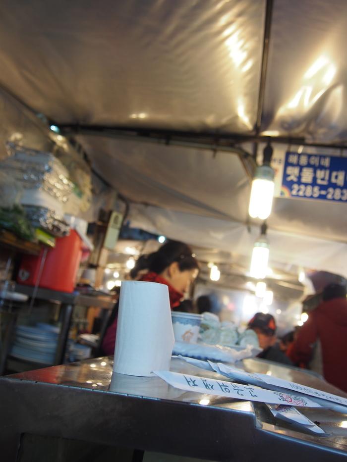 2014 2月 ソウル (13) 初日夜の広蔵市場 と ちょっとお知らせ_f0062122_1220557.jpg