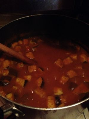 BARの豚バラ肉とナスのトマト風味カレー_b0249084_18414553.jpg