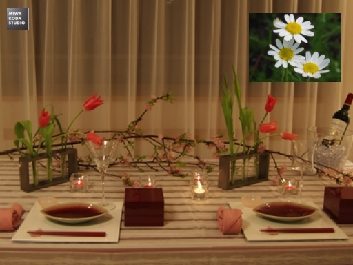 February 19, 2014 アロマのチカラ Power from Aroma: プリティなテーブルに For Pretty Atmosphere_a0307186_22474238.jpg
