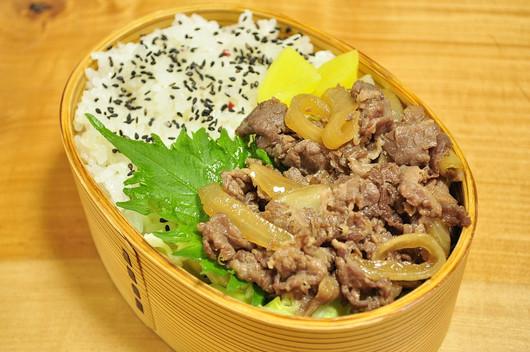 レンジ牛丼弁当_b0171098_6455179.jpg