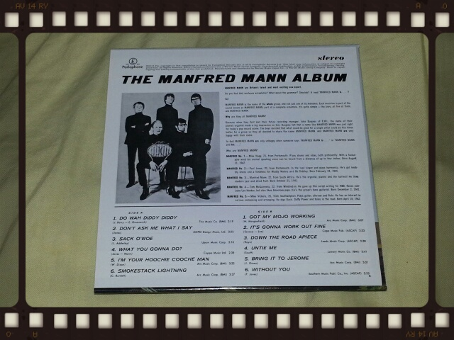 MANFRED MANN / THE MANFRED MANN ALBUM + 12 (紙ジャケ)_b0042308_22531898.jpg