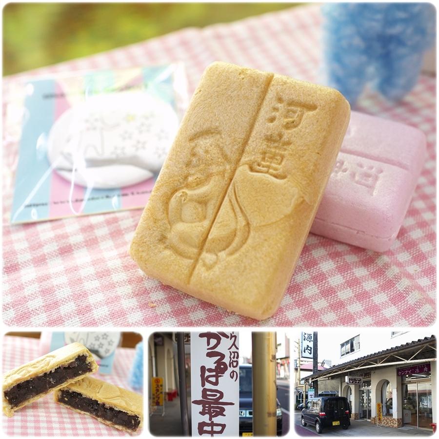 源内菓子店[かっぱ最中]_a0243720_16250530.jpg
