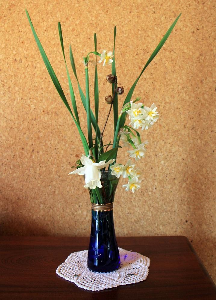 折れた水仙は花瓶で活かします_a0107574_18564751.jpg