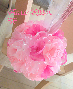Ruffled ball bouquet*Tulle pink_f0017548_15380319.jpg