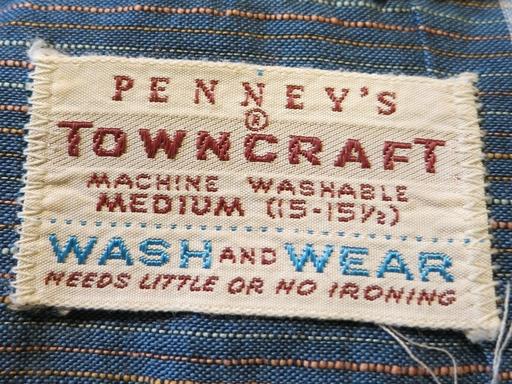 2月22日(土)入荷!50年代  PENNY\'S TOWNCRAFT  コットンシャツ!_c0144020_16495772.jpg