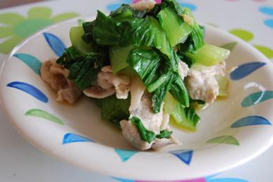 チンゲン菜と豚肉のしょうが和え_c0124528_13471820.png