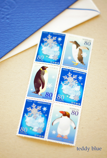 pretty blue stamps  かわいいブルーの切手たち_e0253364_1755538.jpg