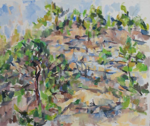 岩と松(第一段階)_c0236929_2164196.jpg