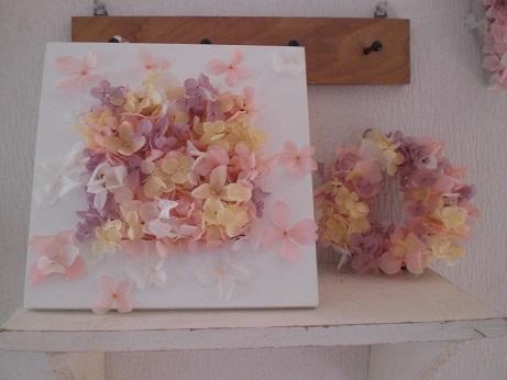 桃色桜色フレームアレンジ&リース_c0207719_117454.jpg