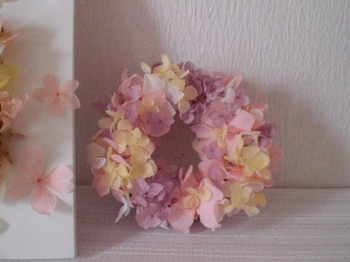 桃色桜色フレームアレンジ&リース_c0207719_1185785.jpg