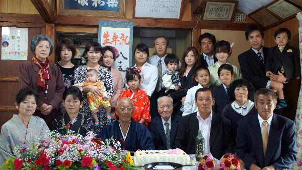新里三郎 85歳 生年祝い_e0166355_01181089.jpg