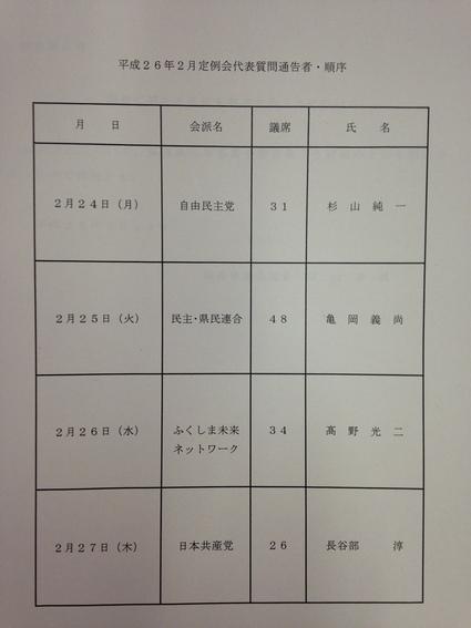 福島県議会 2月定例会 代表質問_f0259324_11514889.jpg