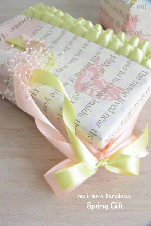 ◆Wrapping*Spring Gift_f0251032_1640359.jpg