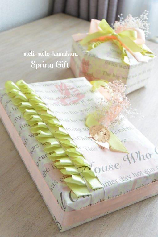 ◆Wrapping*Spring Gift_f0251032_16414040.jpg