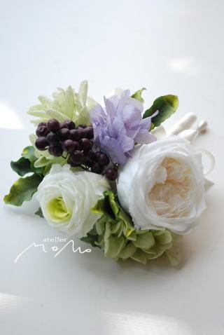 ラウンドブーケ ライラック色の紫陽花を入れて_a0136507_17225034.jpg