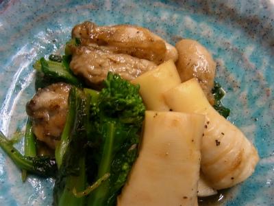 牡蠣と春野菜_f0157910_15365261.jpg