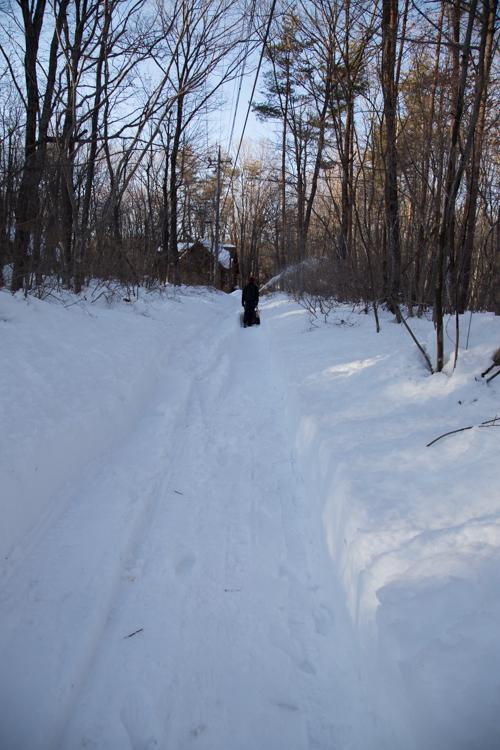 記録的大雪から9日目、自力でやっと車を出す_c0137403_20483082.jpg