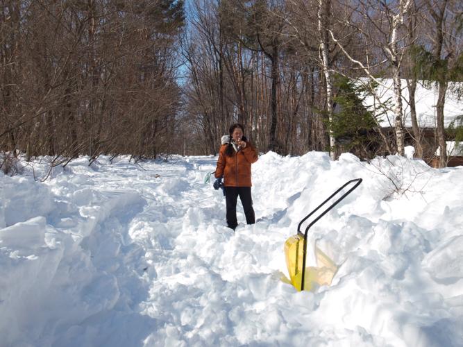 記録的大雪から9日目、自力でやっと車を出す_c0137403_21121080.jpg