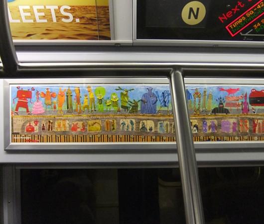 NYの地下鉄車両内で見かけたアート作品_b0007805_2374084.jpg